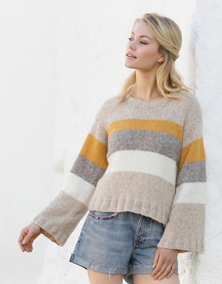 pretty hand knit jumper