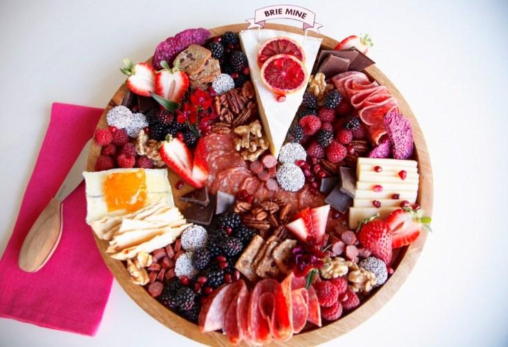 valentine's day cheese board