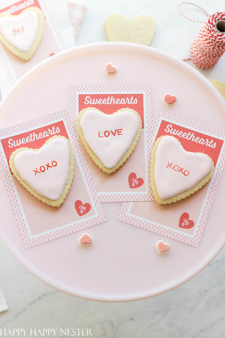 how to make a valentine's day cookie card