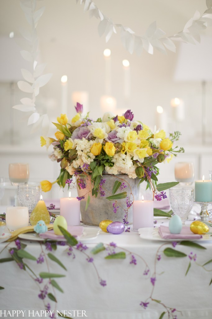 spring decorating ideas for a dining room table