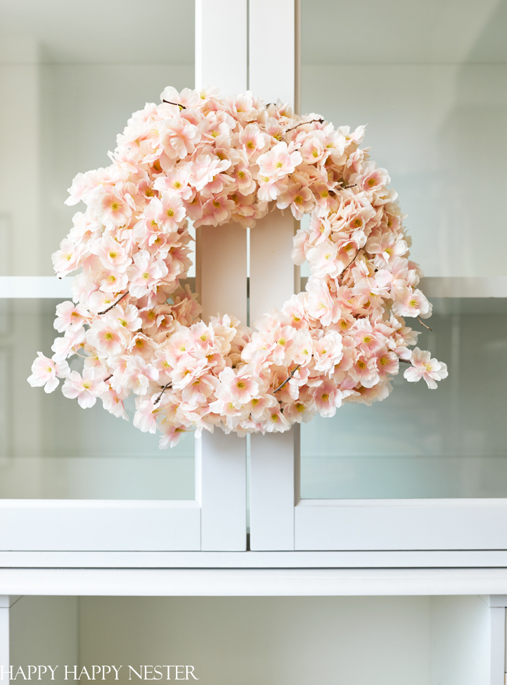faux flower wreath diy