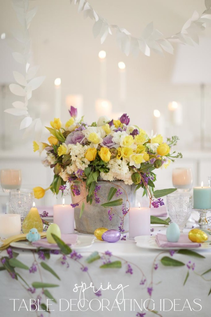 spring decorating ideas for a dining room table pin