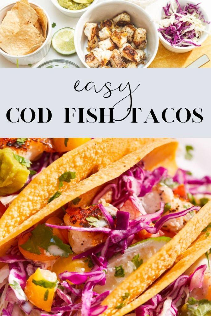 easy cod fish tacos pin