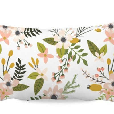 21 Beautiful Watercolor Floral Throw Pillows