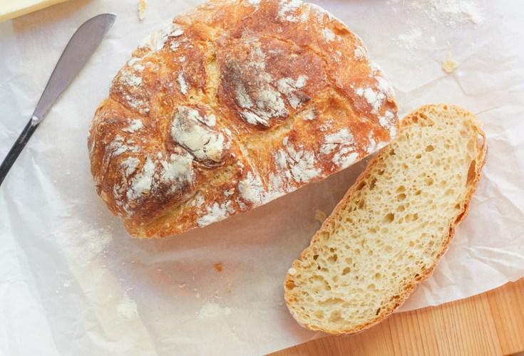 crusty no knead bread
