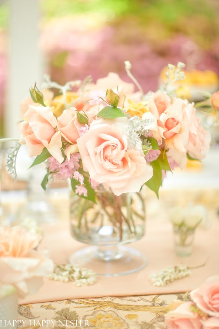 simple garden flower arrangement
