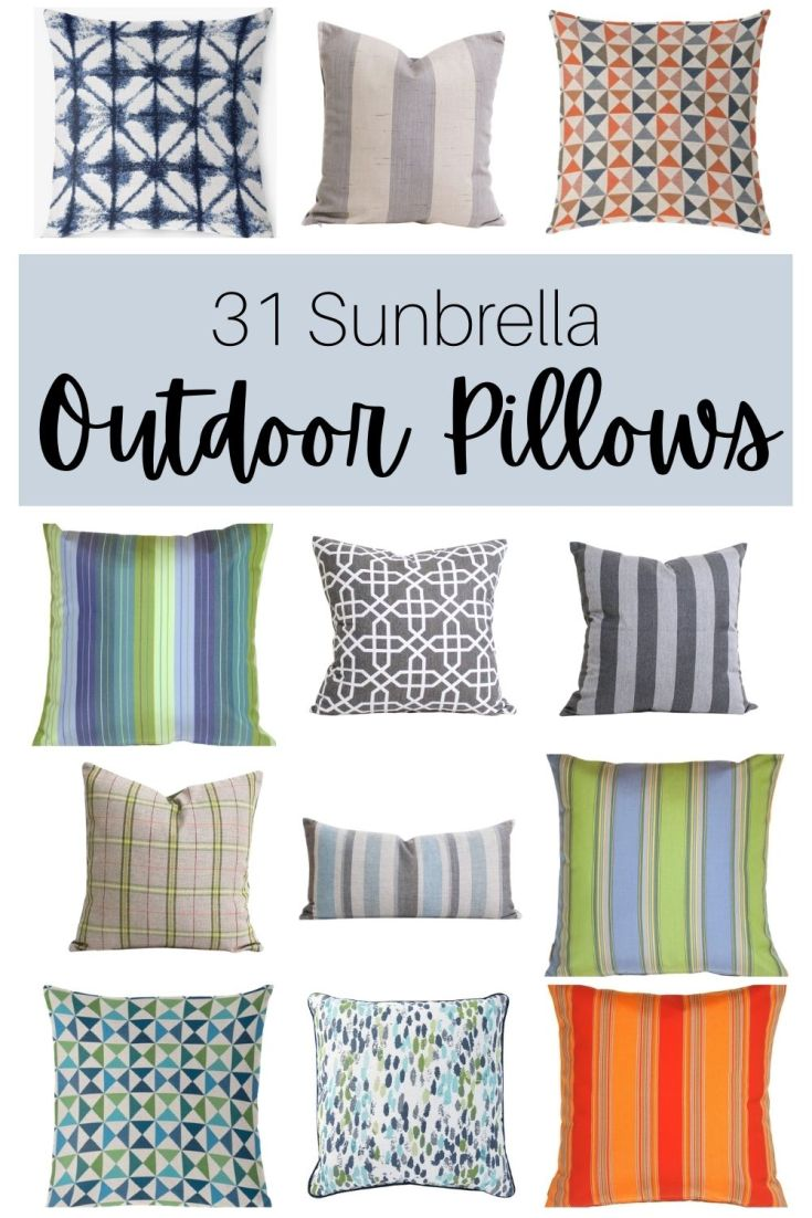 best outdoor pillows