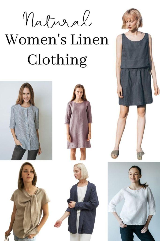 Natural Women's Linen Clothing pin