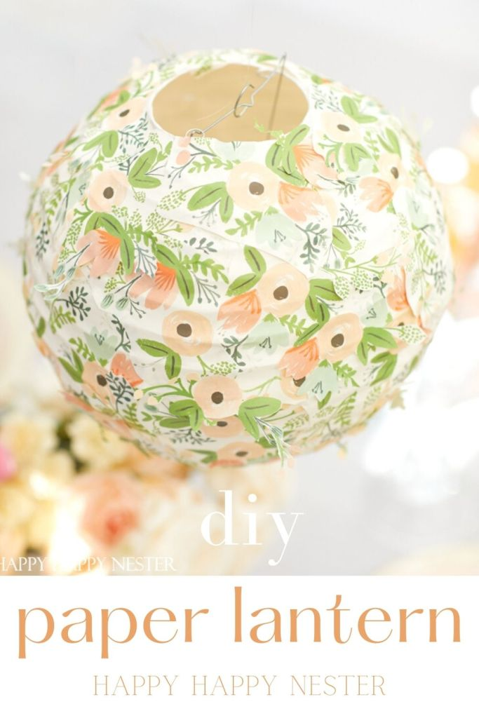 how to decorate a paper lantern pin