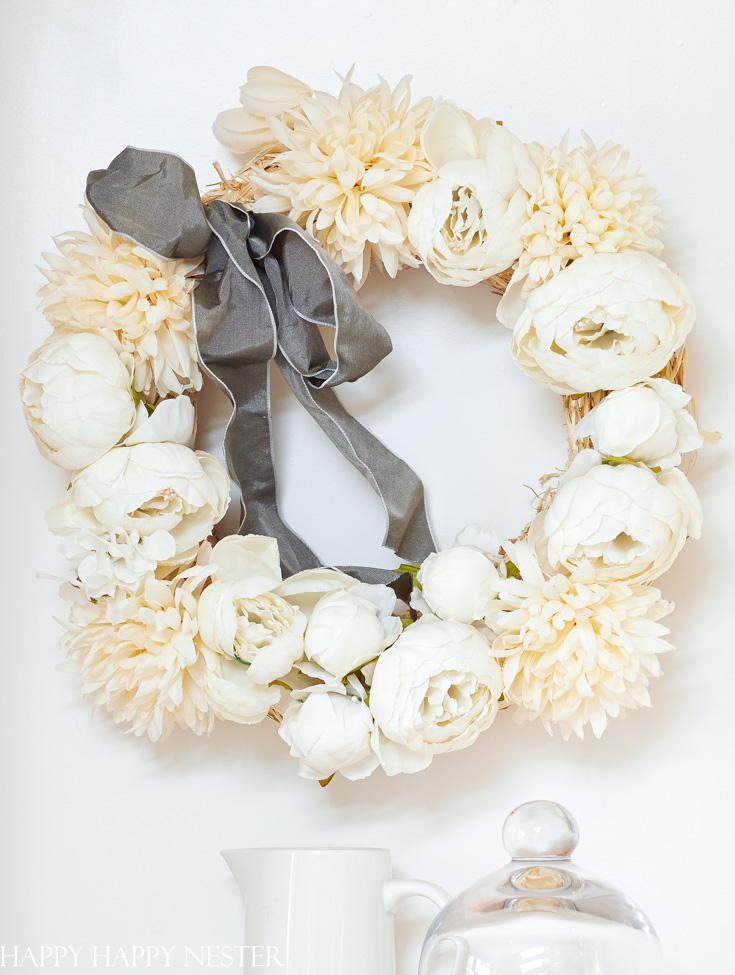 easy peony wreath