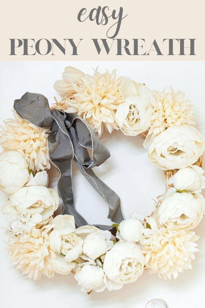 easy peony wreath pin