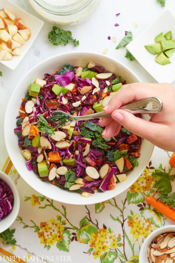 kale salad recipe with cranberries