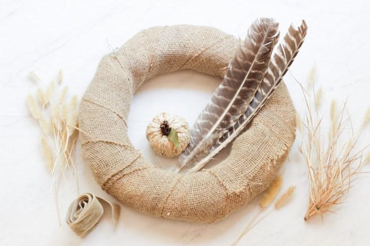 dried wreath tutorial