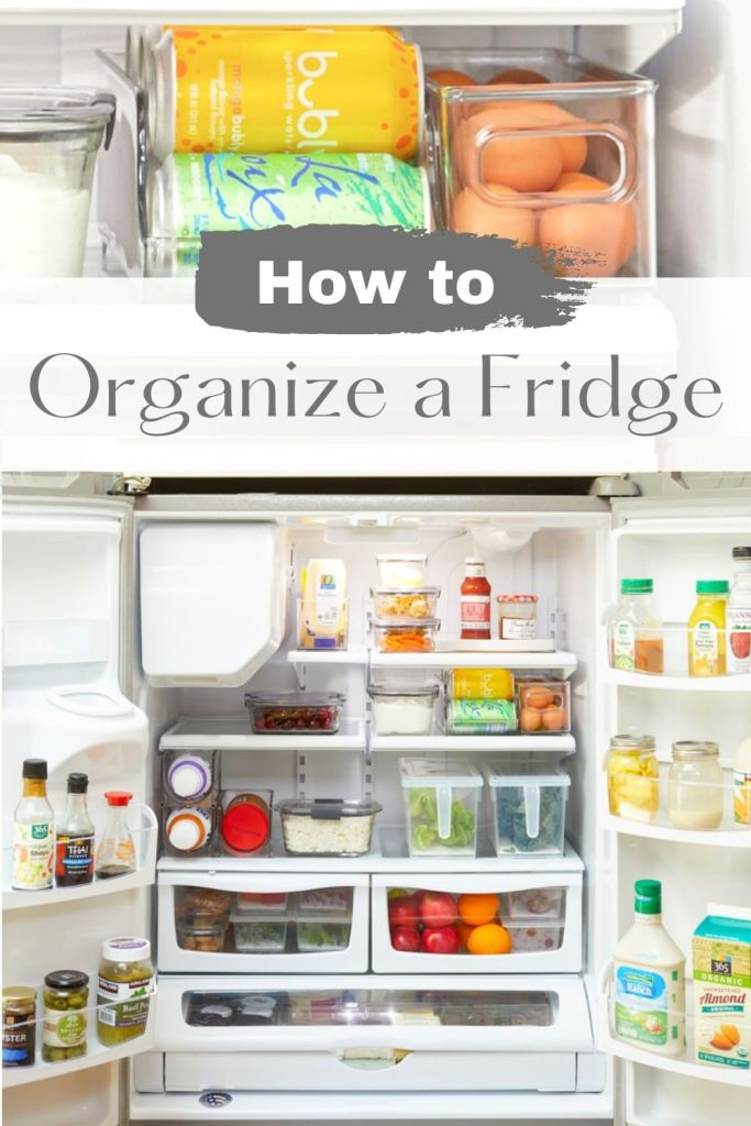 how to organize a French door refrigerator pin