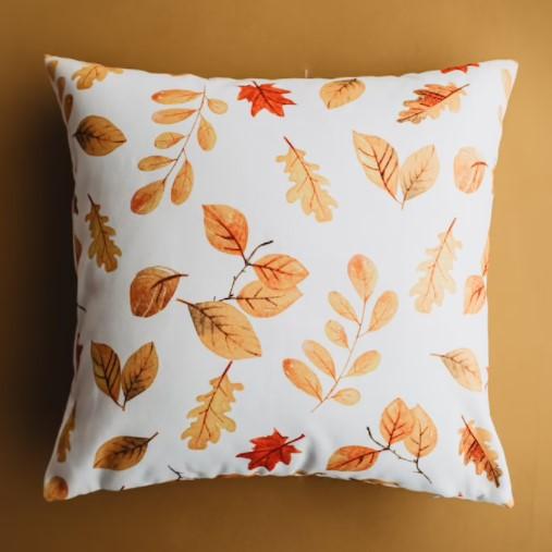 fall leaf print pillow
