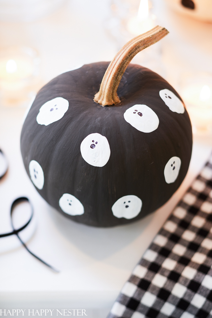 ghost painted pumpkin for kids