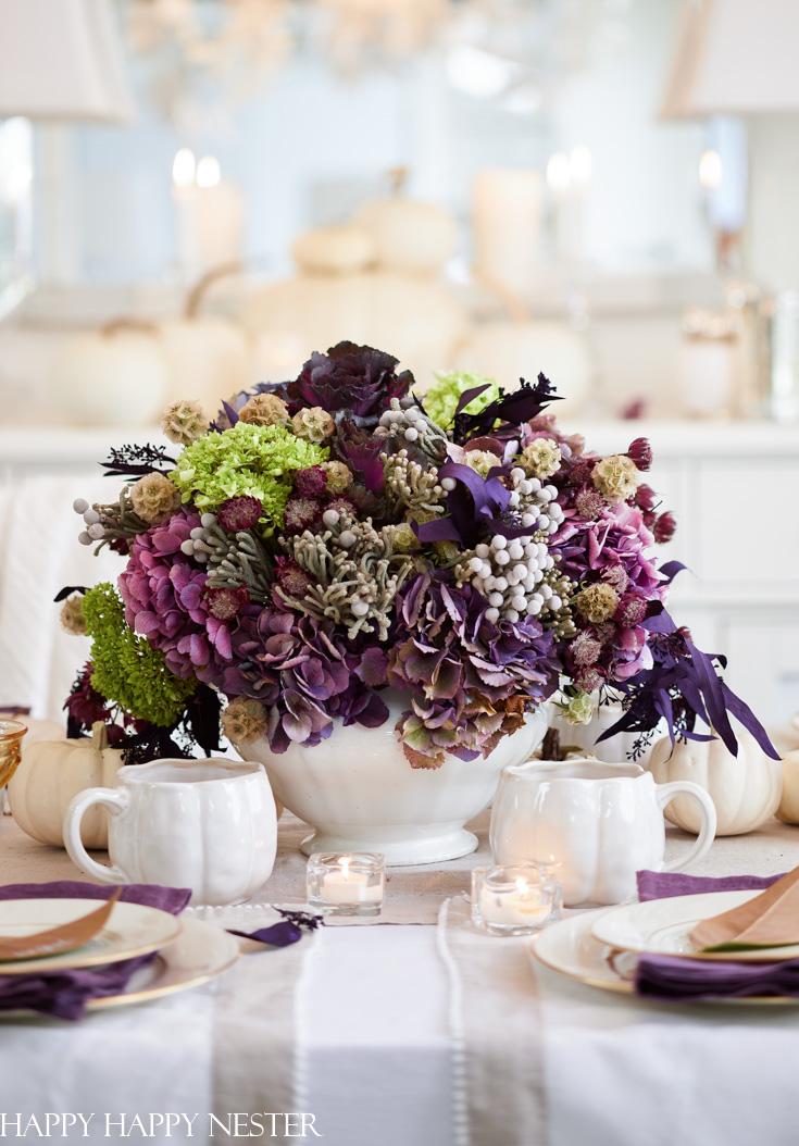 purple flower arrangement