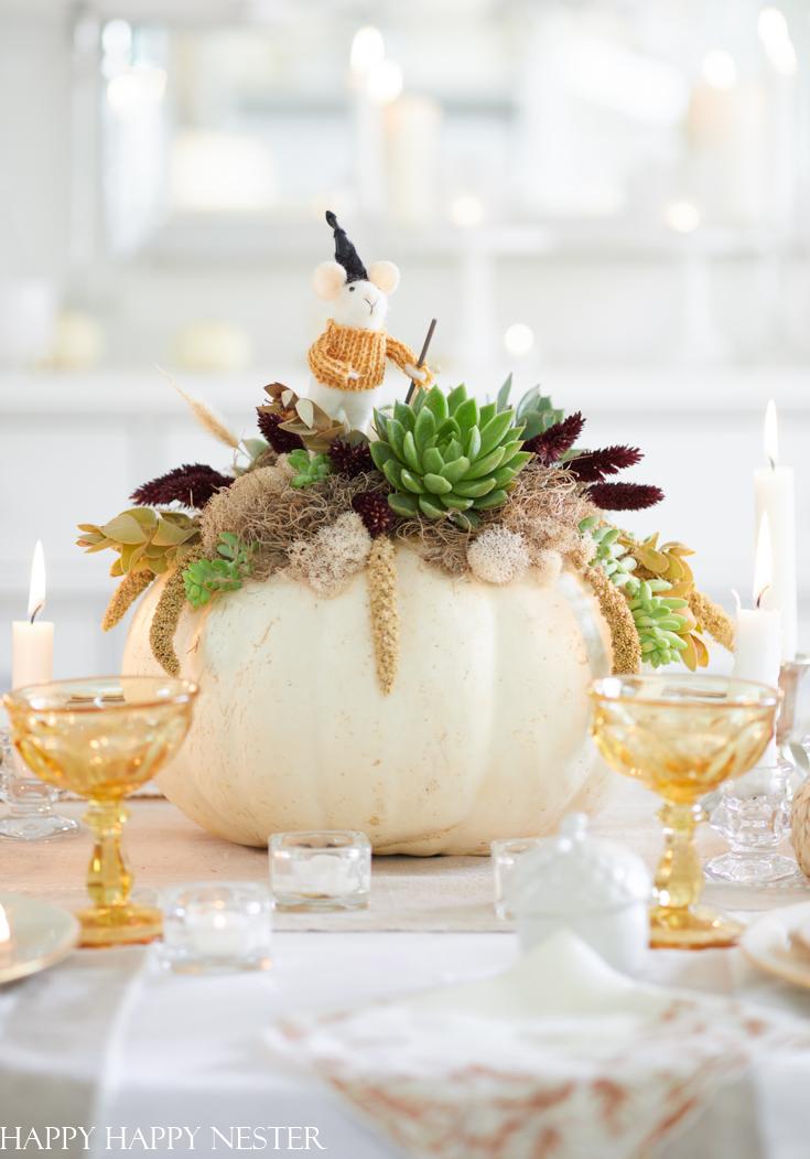 pumpkin arrangement for thanksgiving