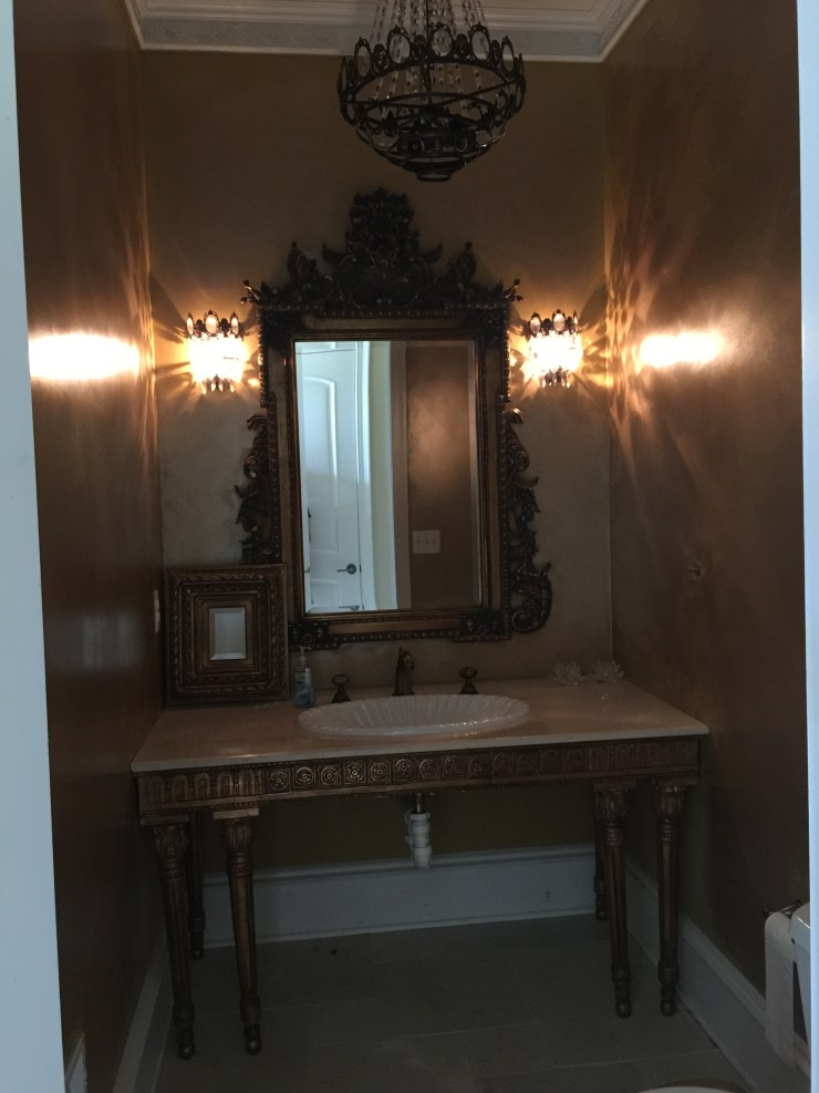 Powder room remodel using planked boards happy haute home for I want to renovate my house where do i start