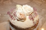 Romantic Naked Cake Recipe Topped with Fresh Flowers
