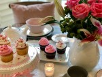 Casual, Romantic Pink & Gray Valentine Tablescape