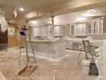 "Basement Bar Remodel ""One Room Challenge"" (Week 3) - Sanding and Priming Cabinets"