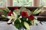 Rose, Lily and Artichoke Centerpiece - Step by Step DIY Guide