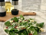 (KETO) Low Carb Recipe - Spinach Salad with Crumbled Bacon