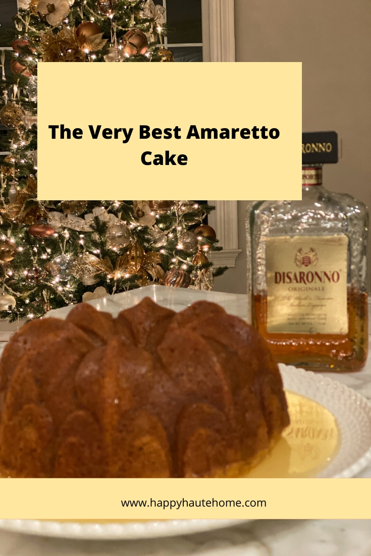 Amaretto Cake Pinterest Graphic