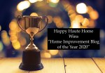 "Happy Haute Home Wins ""Home Improvement Blog of the Year 2020"""