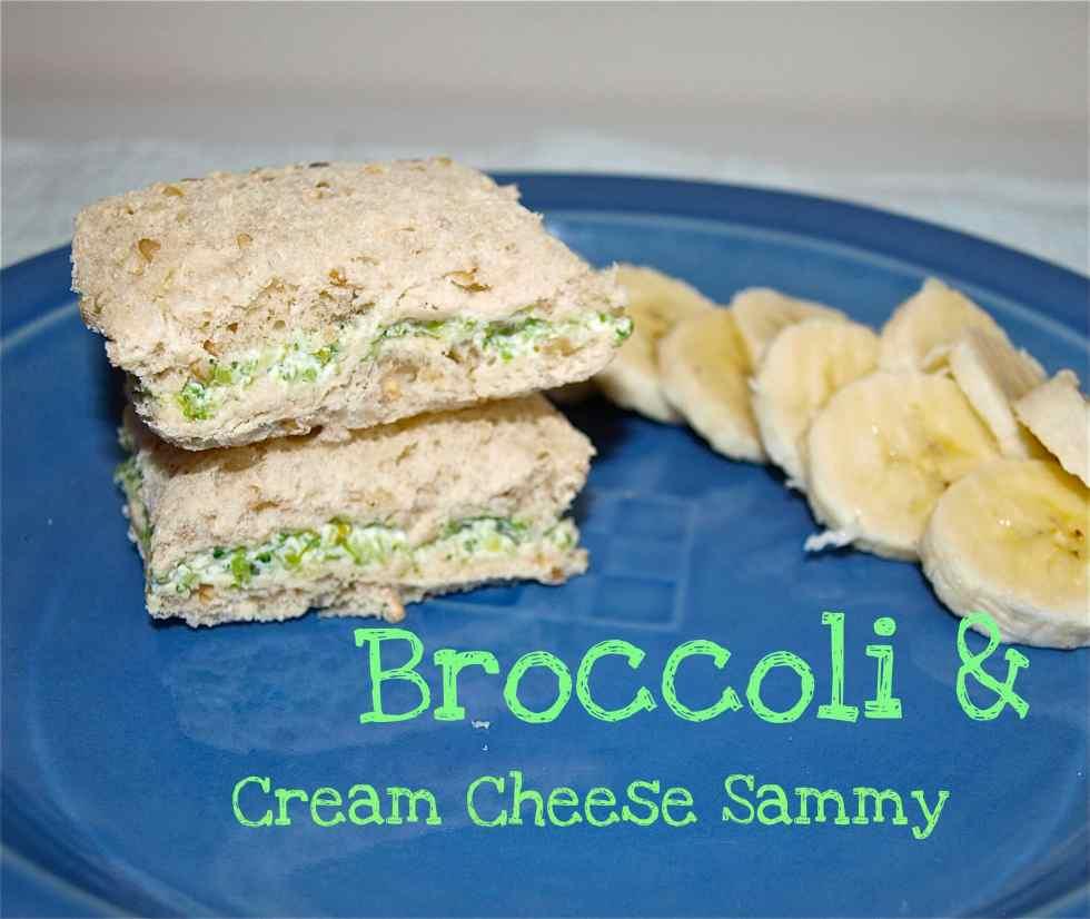 broccoli and cream cheese sammy