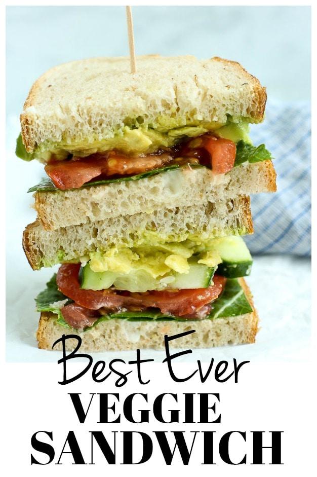 The BEST ever Veggie Sandwich #vegan #vegetarian #lunch #easy #veggies #sandwich