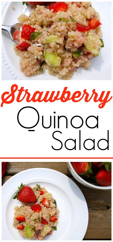 This strawberry quinoa salad is so refreshing! A quick and easy clean-eating recipe that is always a big hit.
