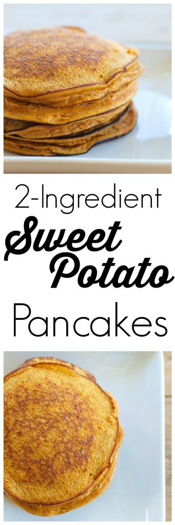 These 2 Ingredient (really!) Sweet Potato Pancakes are so easy and are a huge hit with the kids. Gluten-free, dairy-free, nut-free, soy-free. Awesome #cleaneating #recipe