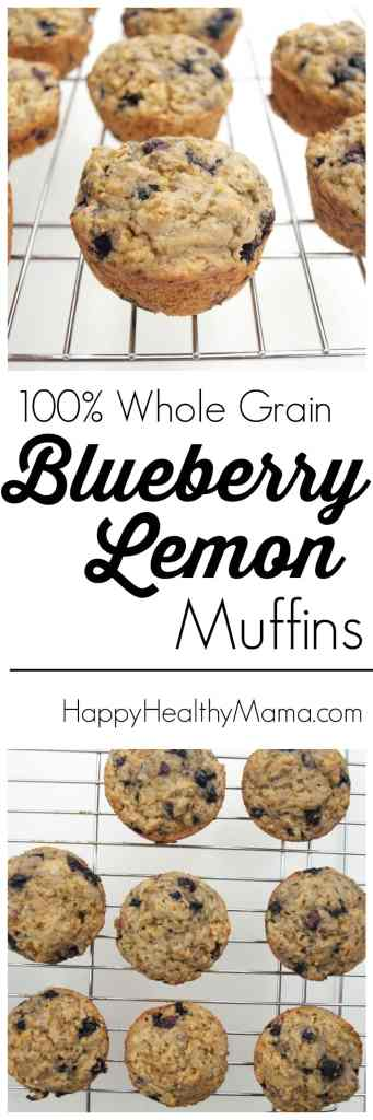These blueberry lemon muffins are quick and easy, no butter, healthy, and my kids gobble them up! Great recipe!