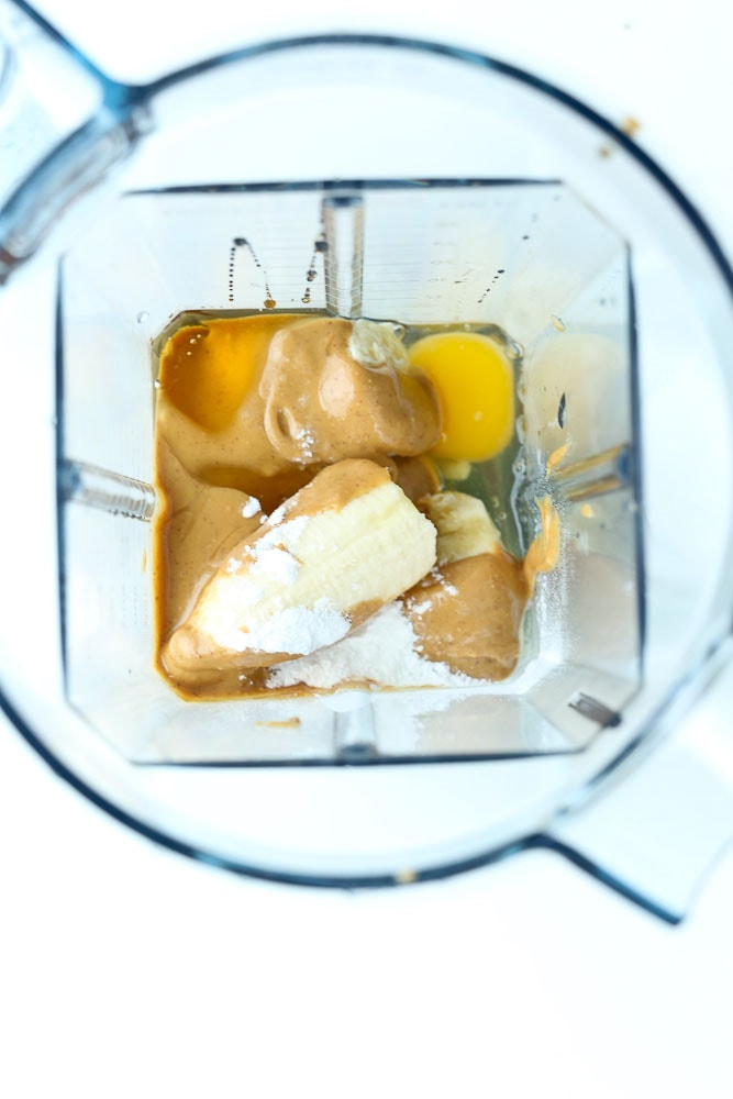 Blender Muffins-flourless ingredients in blender