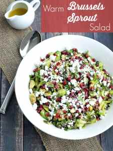 Warm Brussels Sprouts Salad with Pomegranate and Goat Cheese. Think you don't like brussels sprouts? Get ready to fall in love!
