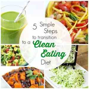 Are you ready to transition you and your family to a clean-eating diet? Find out the basics and how to do it in 5 simple steps! This really makes the transition seem more do-able!