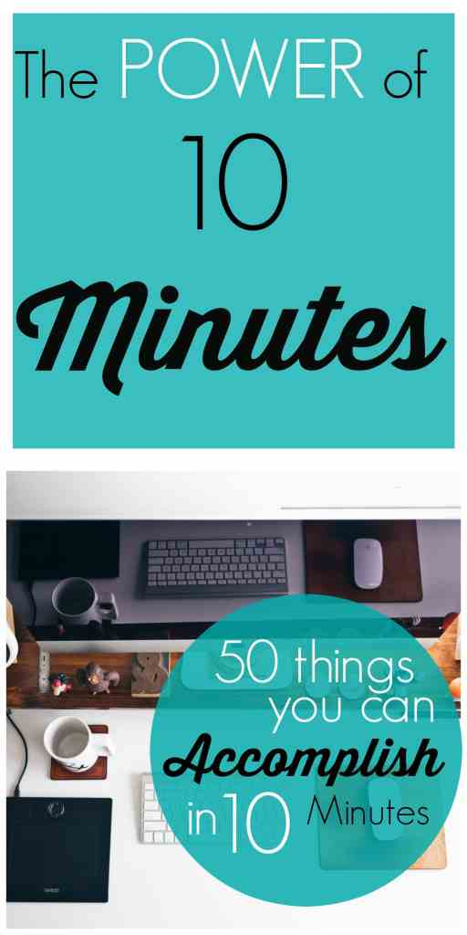 Do you feel like you can't get ahead of your to-do list?  Unleash the POWER of 10 Minutes! 50 Things you can accomplish in 10 minutes!Watch your productivity soar and your stress lessen.  Get inspired!