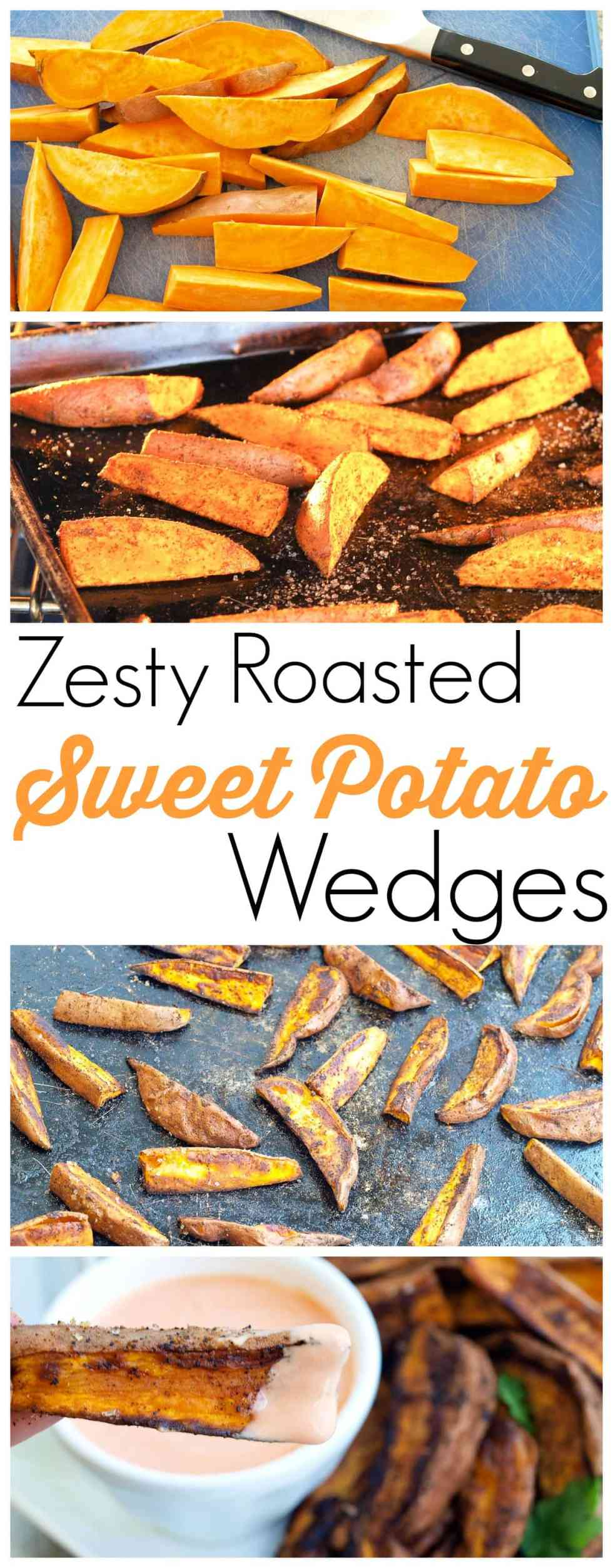 The best roasted sweet potato recipe of your life! Lots of flavor!! The Spicy Yogurt Dipping Sauce is perfection. #healthysidedish #recipe