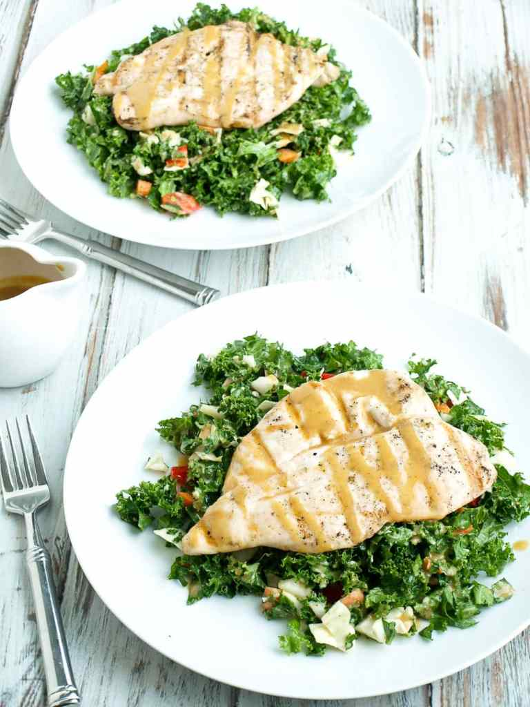 Asian Kale Salad with Grilled Chicken. An easy and healthy weeknight dinner recipe that can ready in about 25 minutes!! This was delicious!