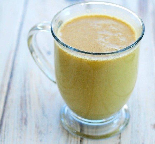 tumeric golden milk tea recipe glass