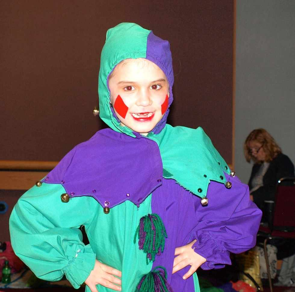 Meghan as a Mother Ginger Clown in the Nutcracker