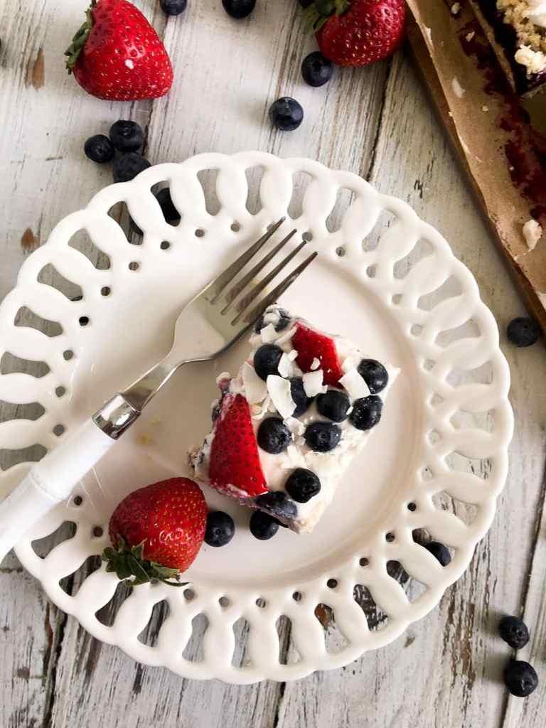 Healthy Coconut Berry Ice Box Cake