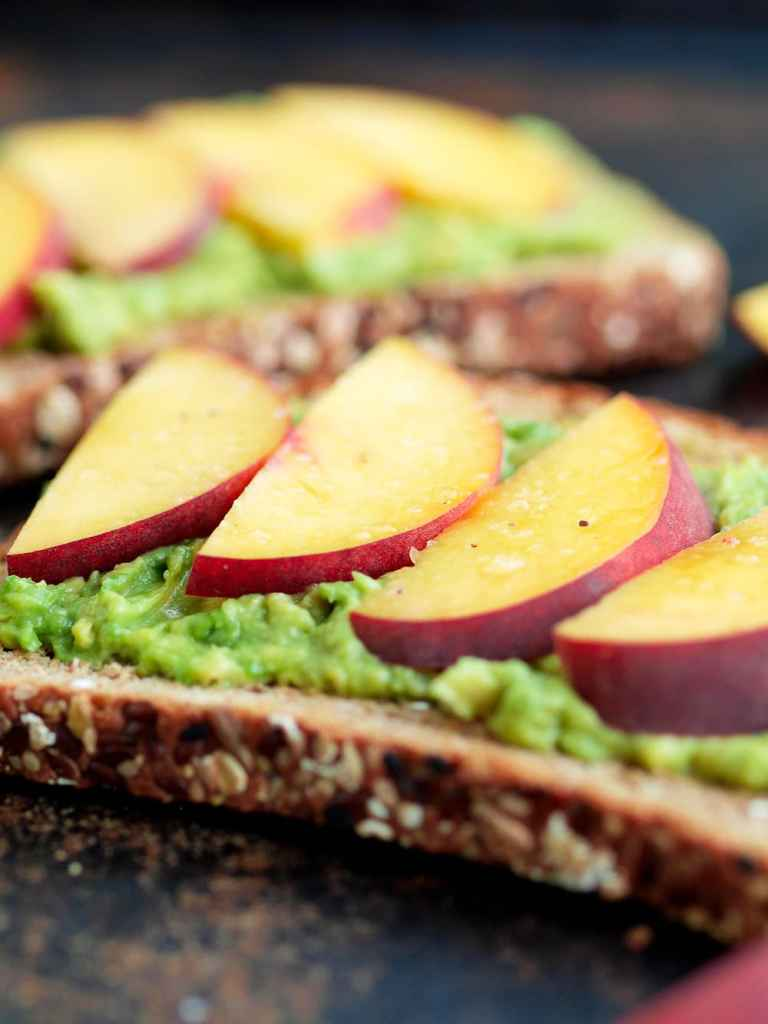 Avocado Toast with Peaches