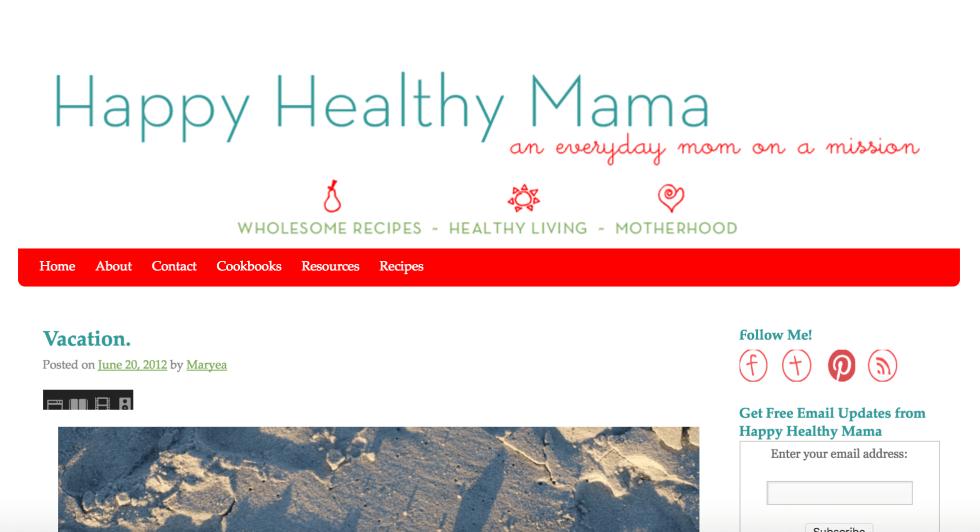 Happy Healthy Mama old design