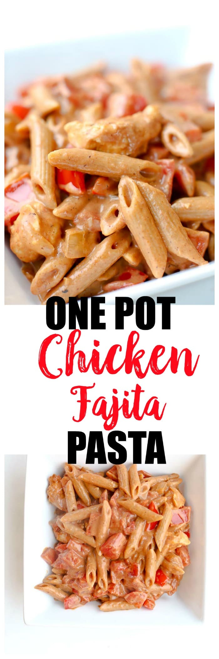 Chicken Fajita Pasta Recipe. Easy healthy dinner. Dairy-free, adaptations for gluten-free, Paleo, Whole30, and picky eaters.