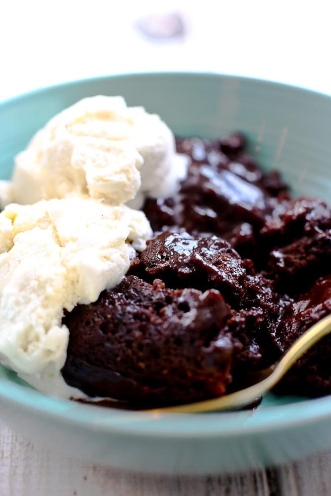 Hot Fudge Pudding Cake Vegan and Gluten Free