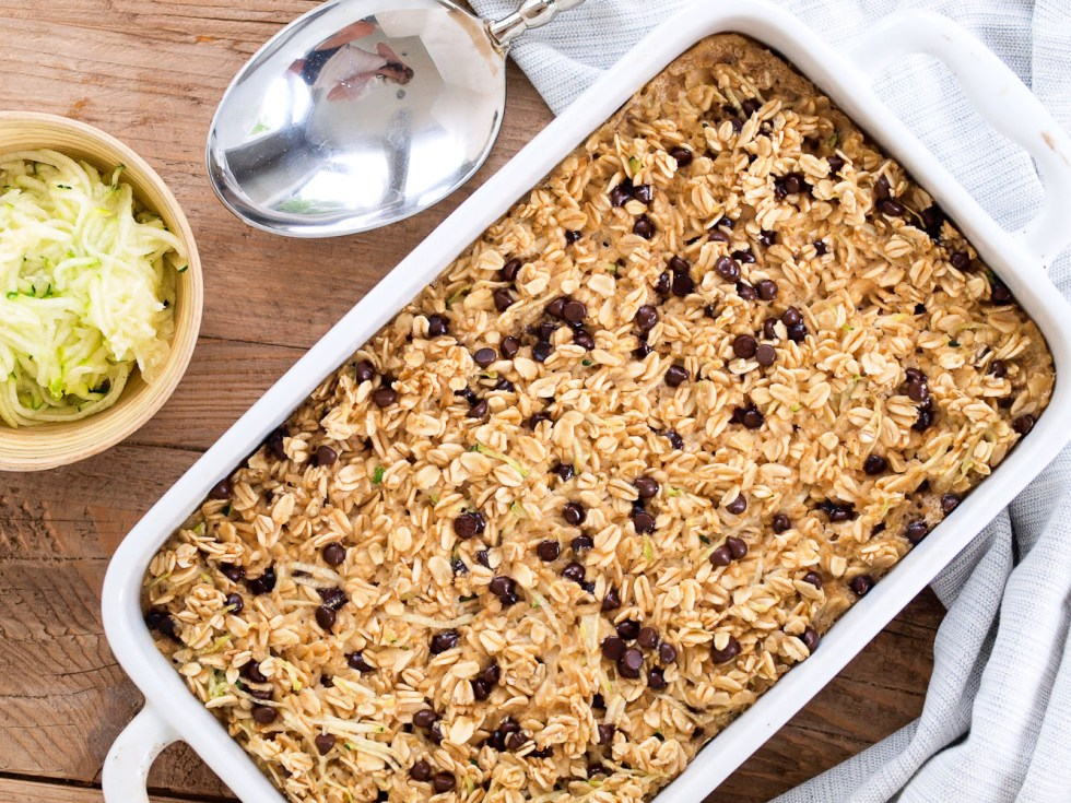 Zucchini Chocolate Chip Baked Oatmeal