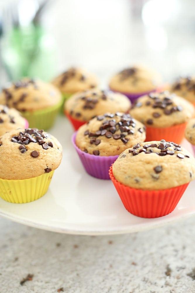 first communion food orange chocolate chip muffins